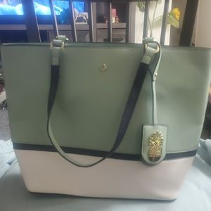 Preowned Crown and Ivy mint green pinapple bag